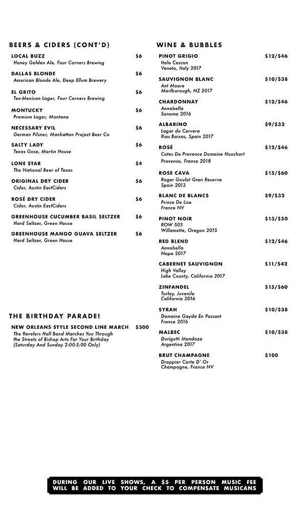 Revelers Spring 2021 Menu 3 - Long copy2