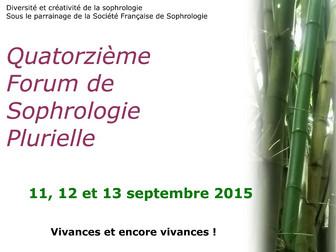 14è Forum de la Sophrologie Plurielle