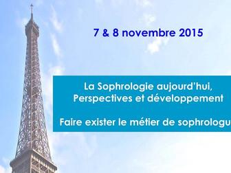 1er Congrès international de Sophrologie de Paris - 7 et 8 Novembre 2015