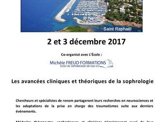 2 et 3 décembre 2017 - Congrès de la Société Française de Sophrologie