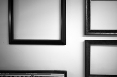 Wall of frames: A few of our frames on display.