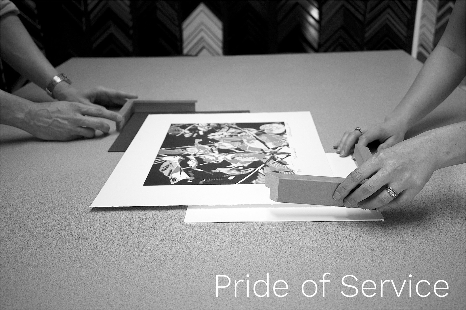 Pride of Service: We work with our customers one on one to make sure we deliver what they need.