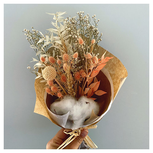 Dried Mini Florals - Coral