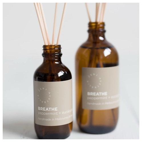 Zenj Reed Diffuser - Breathe (Peppermint & Eucalyptus)