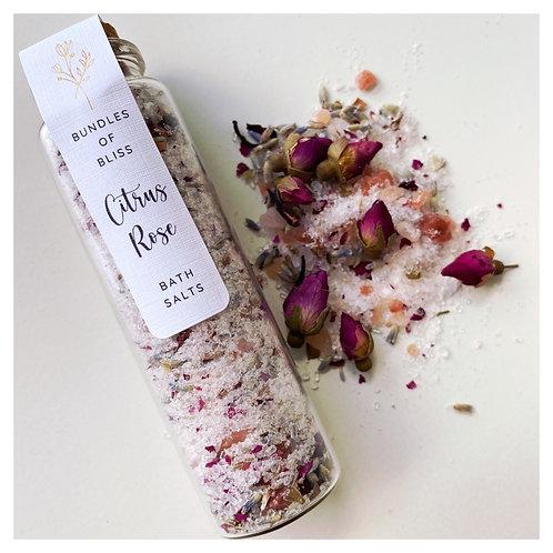 Bundles of Bliss Citrus Rose Bath Salts