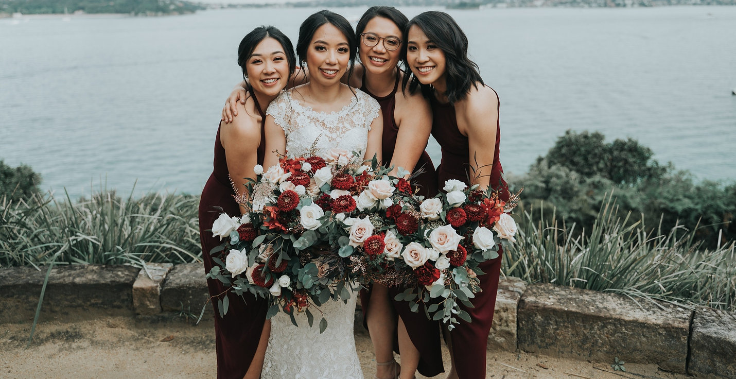 clustered bouquets