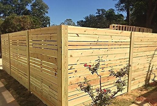 Pensacola fence, East Hill Horizontal Fence
