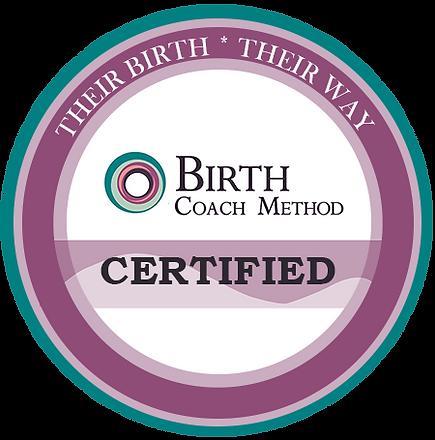 "Birth Coach Method Certified Badge ""Their Birth - Their Way"""