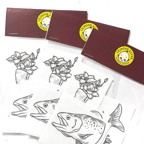Fox & Salmon Sticker Pack