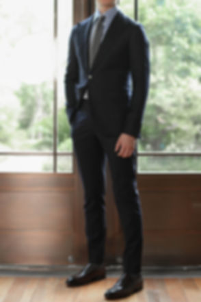 Black fitted suit