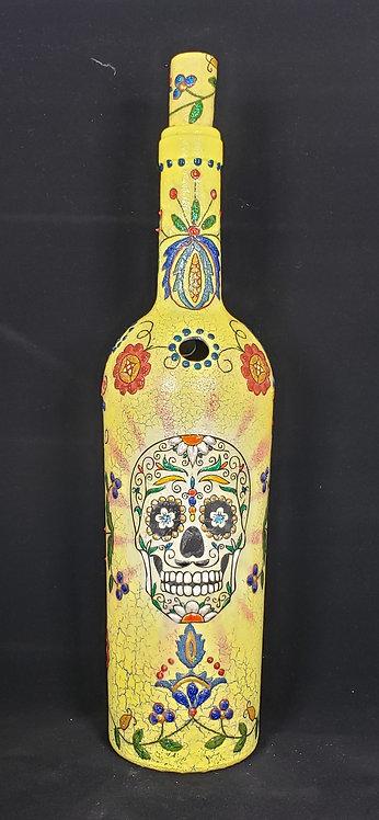 Yellow Sugar Skull Incense Holder