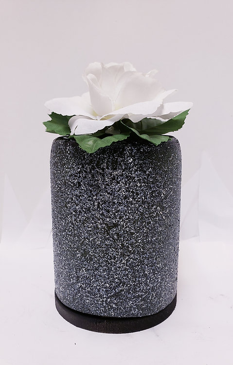 White Rose & Stone Candle Dome