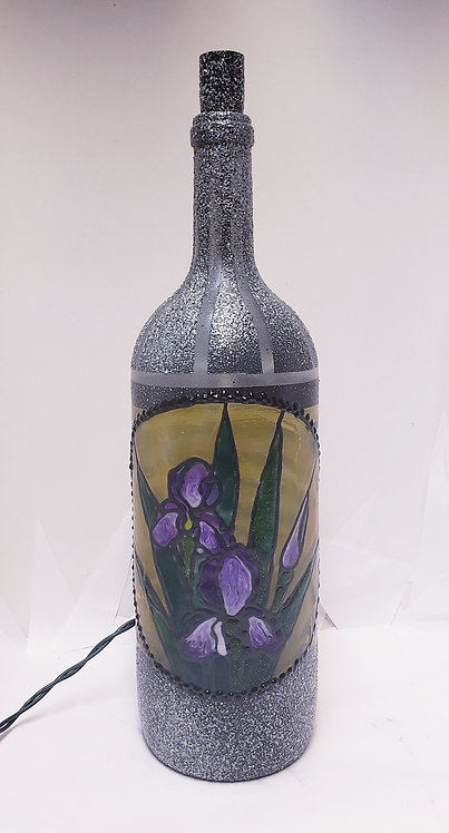 Purple Iris Bottle Light