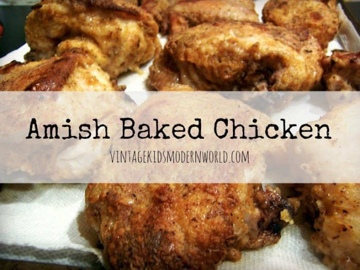 Amish Baked Chicken :: Vintage Kids | Modern World