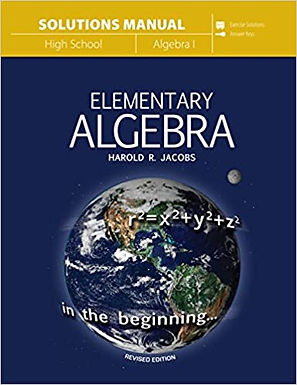 Jacobs Algebra - Solutions Manual