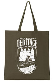 Sturdy Canvas Vintage CampingTote