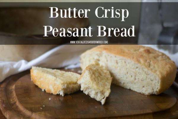 Butter Crisp Peasant Bread :: Vintage Kids | Modern World Blog