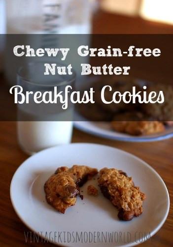 Chewy Grain Free Nut Butter Breakfast Cookies :: Vintage Kids | Modern World