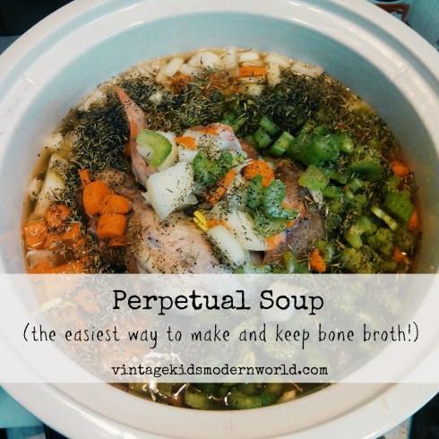 Perpetual Soup (The Easiest Way To Make and Keep Bone Broth) :: Vintage Kids | Modern World