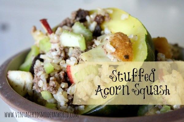 Stuffed Acorn Squash Recipe (and our garden update) :: Vintage Kids   Modern World