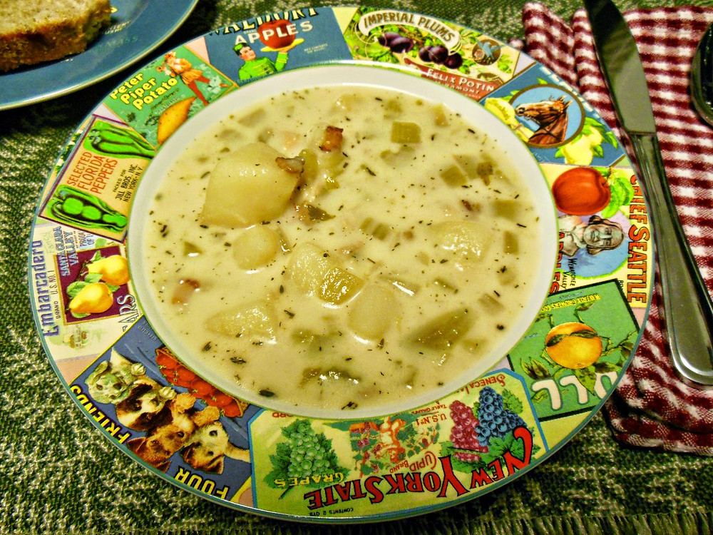 Potato Soup by Our Sunday Cafe - featured at Natural Family Friday