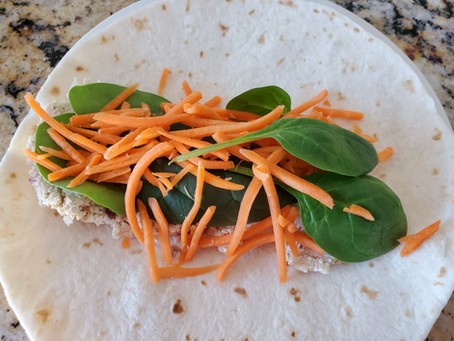 Amazing Chicken Salad Vegan Wrap