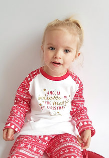 Personalised Believe in the Magic of Christmas Pyjamas