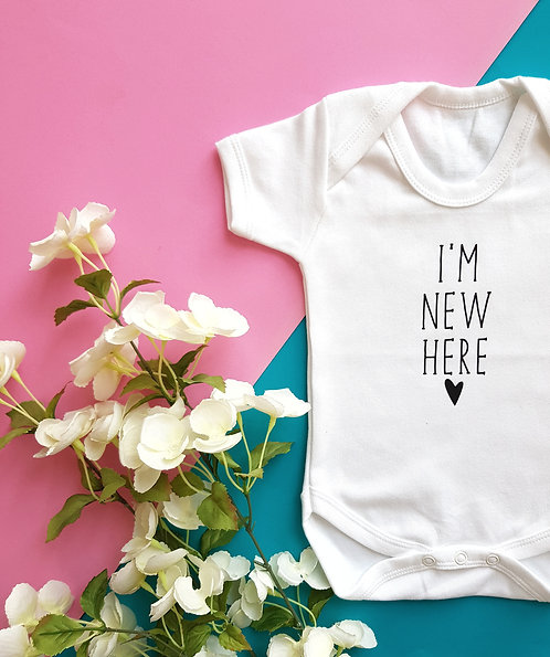 I'm New Here Newborn Baby Vest