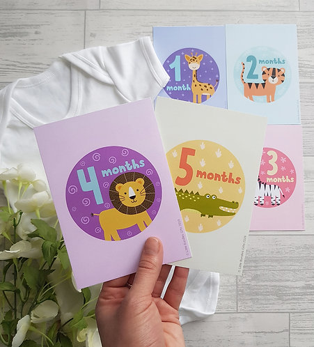 Animal Set 2 Baby Milestone Cards