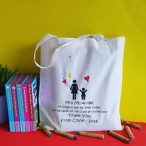 Personalised Thank You Teacher Bags