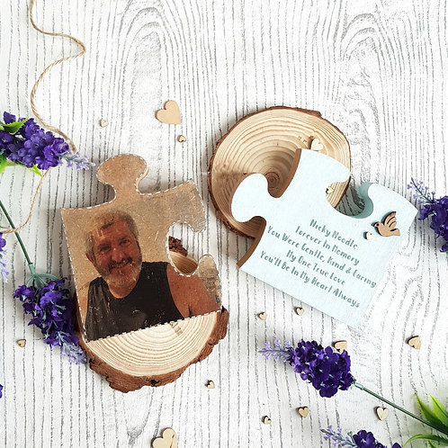 Personalised Picture Transferred Wooden Freestanding Jigsaw Puzzle Pieces