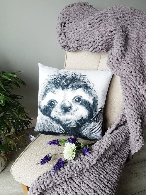 Charcoal Design Sloth Cushion