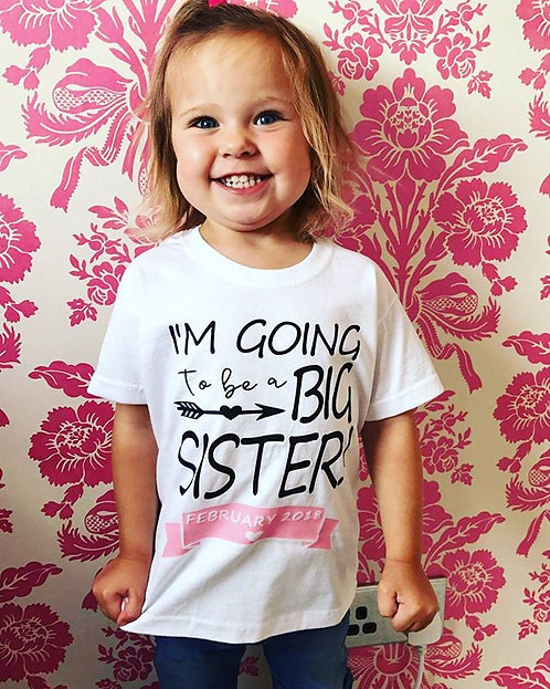 Child Reveal Personalised T-Shirt Top, New Baby Announcement.