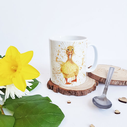 Splatter Duck Ceramic Mug