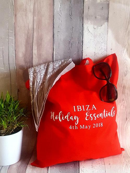 Personalised Holiday Essential Bag