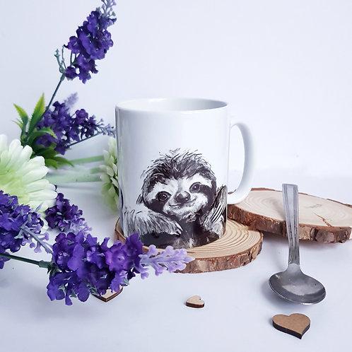 Charcoal Design Sloth Mug