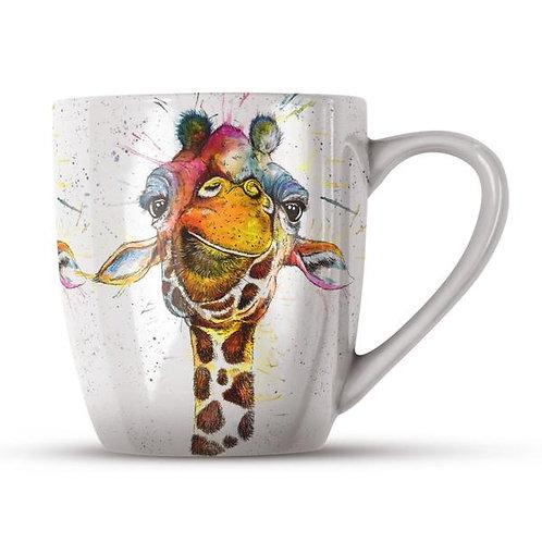 Splatter Rainbow Giraffe Bone China Mug