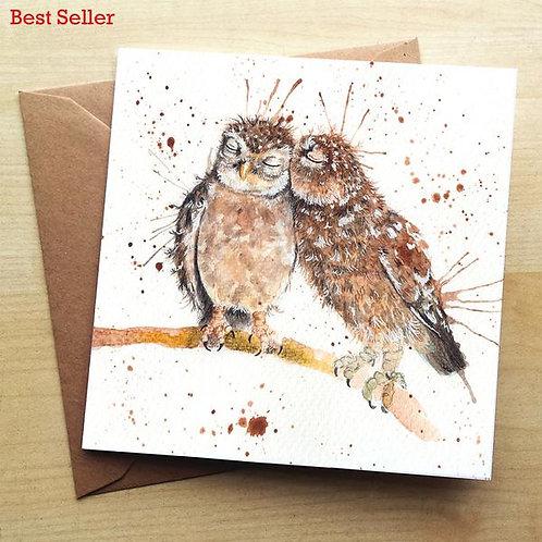 Splatter Love Birds Greeting Cards