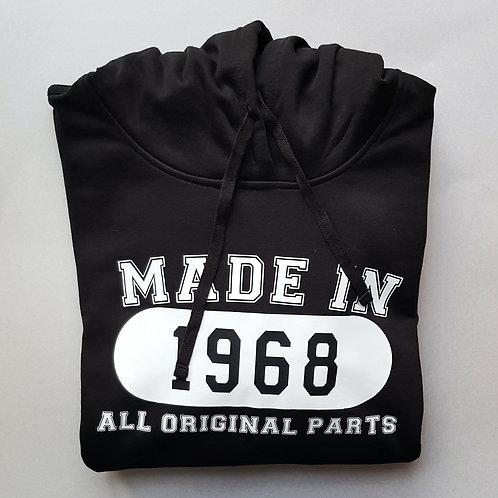 Made In 1968 Personalised Hoodie