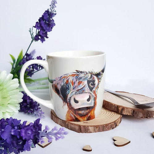 A Bad Hair Day Cow Bone China Mug
