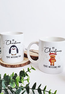 Christmas Movie Watching Personalised Mug