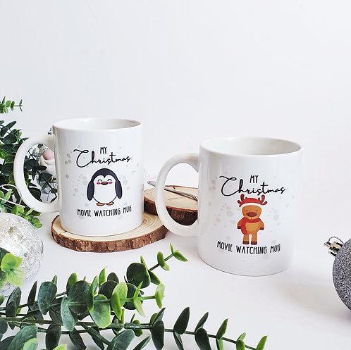 Christmas Movie Watching Personalised Mug