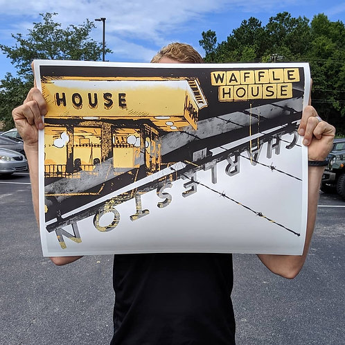 Waffle House/Train Station Mash-up