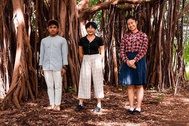 tree, group photo, art collective, singapore, young, artists
