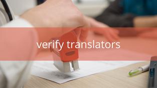 How can organisations verify translators?
