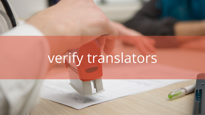 How can organisations verify translators?