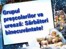 Copiii bisericii va urează: Sărbători binecuvântate!