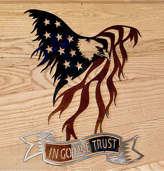 American Eagle with custom text - paintless