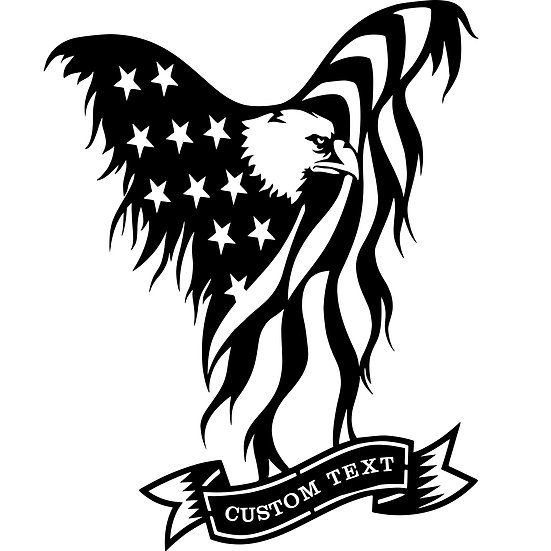 American Eagle with custom text