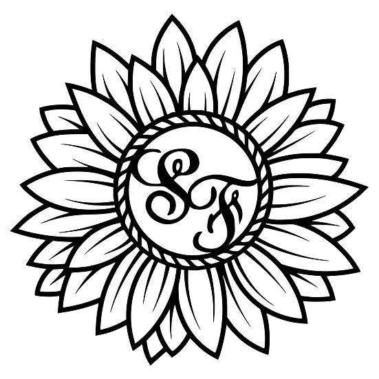 Custom Sunflower Monogram